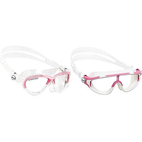 Cressi Cobra Kid Gafas de Piscina para Niños, Color Transparente / Rosa, Talla Única + Gafas de natación, Unisex niños, Rosa/Blanco, 2/7 Años-Baloo