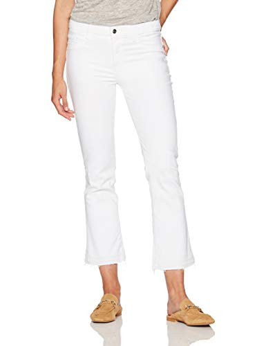 Madison Denim Women's Bleeker Crop Flare Jean Colour 24 White
