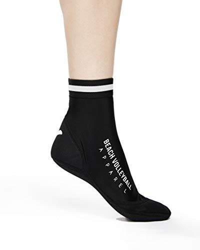 Beach Volleyball Apparel Beachsocken Beachvolleyball Neopren Sandsocken (Schwarz, 35-37 (S))