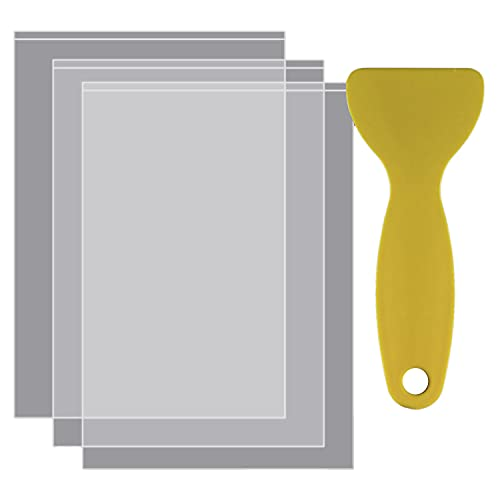 Wivarra 3Pcs FEP Release Film 200X140X0.15 mm for UV 3D Printers, LCD SLA Resin, with 1Pc Replacement Plastic Spatula