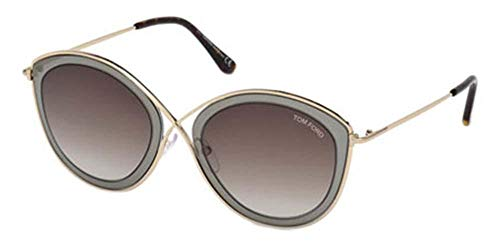 Tom Ford Unisex-Erwachsene FT0604 50K 55 Sonnenbrille, Braun (Marrone Scuro)