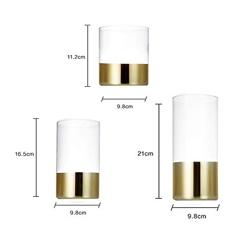 LRHD Glass Coffee Bean Sealed Tin Light Golden Moisture-proof Coffee Tin Tea Tin Milk Powder Tin Food Tin Dried Fruit Tin Medium Large Super Large (transparent Color) (Size : XL)
