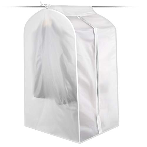 Translucent Garment Bag For Storage, Breathable Clothing Protector, Hanging in Wardrobe, Lightweight Costumes Organizer, Proof Moth, Dust, Water,  With Zipper Keep your Clothes Clear When Travel