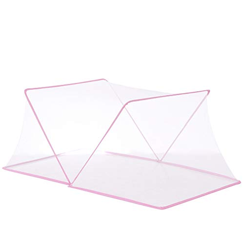 Anti Mosquito Nets,Foldable Portable For Baby Beds Mosquito Protection,Fine Mesh,Breathable No Installation Required,For Home Or Outdoor Any Occasion,Pink-130 * 60 * 62cm
