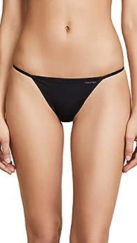 Calvin Klein Women s Sleek Model Thong Panty Black Small