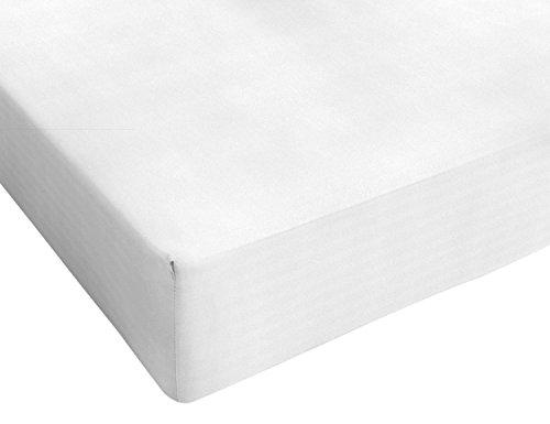 Italian Bed Linen Max Color Lenzuolo sotto a 1 Piazza e Mezza, 100% Cotone, Bianco, Posto e Mezzo