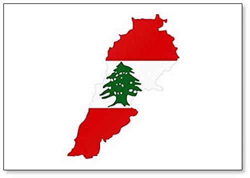 Kühlschrankmagnet mit Libanon-Flagge