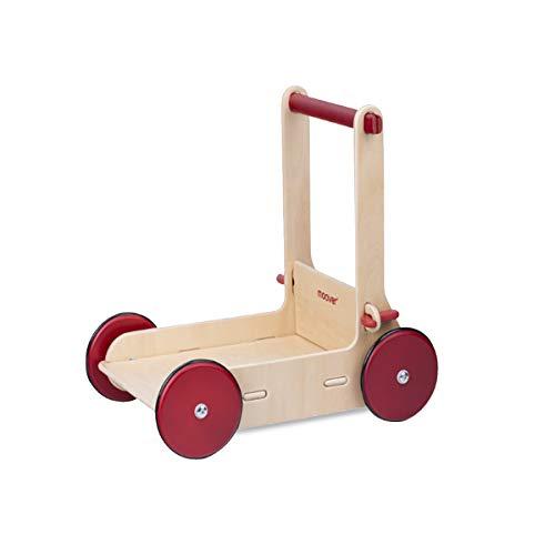 Moover ベビーウォーカー【ナチュラル】 手押し車 歩行器 歩行練習 つかまり立ち 木製 北欧デザイン おしゃれ 幼児 赤ちゃん 対象年齢 8ヶ月以上