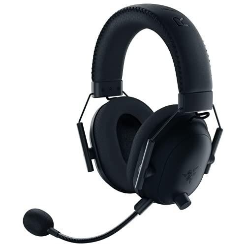 Razer BlackShark V2 Pro Wireless Gaming Headset: THX 7.1 Spatial Surround Sound - 50mm Drivers - Detachable Mic - for PC, PS4, PS5, Switch, Xbox One, Xbox Series X & S - 3.5mm Headphone Jack - Black