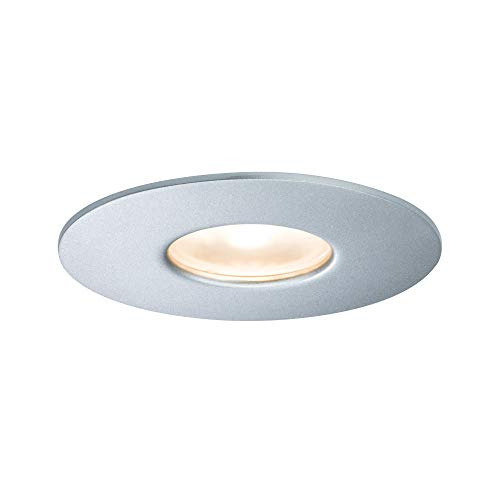 Paulmann 796.66 House Downlight 230 V inbouwlamp IP44 warmwit 4,4 W 34 ° stralingshoek 79666 Outdoor House buitenverlichting inbouwspot ultraplatte LED plafondverlichting plafondspot