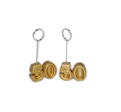 takestop® huwelijkscadeau maat 50 goud 12 stuks ansichtkaart clip voor foto bruiloft bruiloft bruiloft verjaardag feest