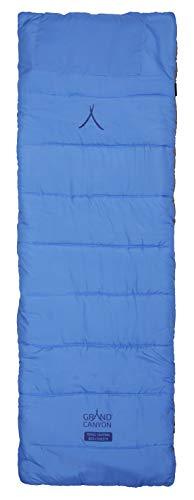 Grand Canyon Feldbettauflage M, weich und gut isolierende Baumwollauflage mit hochwertiger Polyesterfüllung, Tasche für Kissen, grau, 192 x 65 cm, 308023