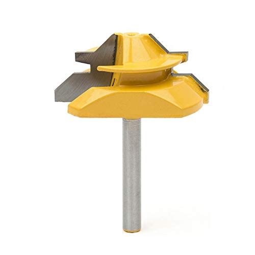 Meihejia 1/4 Inch Shank 45 Degree Lock Miter Router Bit 3/4 Inch Stock Joint Router Bit Woodworking Cutter Tool