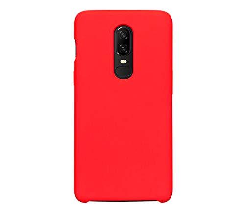 Funda OnePlus 6/6T Teléfono Móvil Silicona Bumper Case y Flexible Resistente Ultra Slim Anti-Rasguño Protectora Caso para OnePlus 6/6T (roja, OnePlus 6)