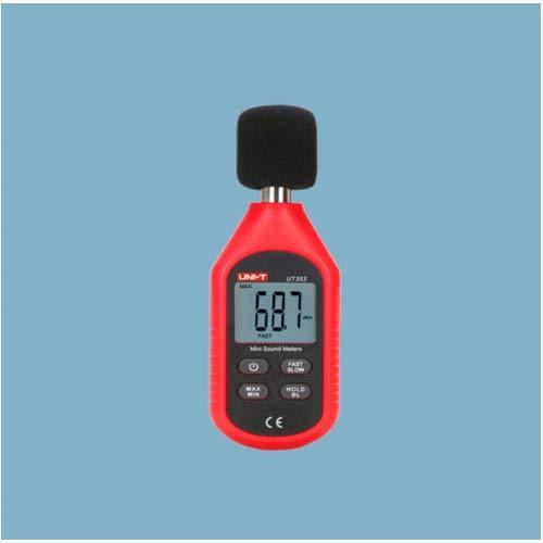 Uni-T 177785 Silver Electronics-Mini Sonómetro (UT353), Ideal para medir Digital, Convierte señales eléctricas, Muestra Datos por Pantalla, Monitorea constantemente el Sonido Ambiental