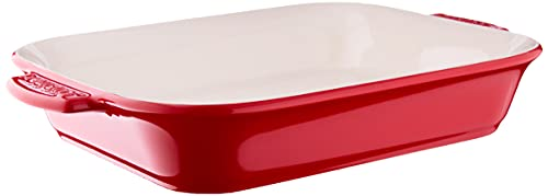 Cuisinart Chef's Classic Ceramic Bakeware-2 Quart Medium Rectangular Baker, Red
