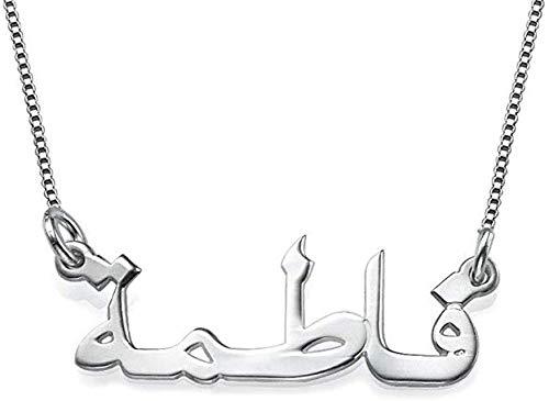 OPALSTOCK Arabische Namenskette 925er Silber- Personalisiert mit Ihrem eigenen Namen (Silber)