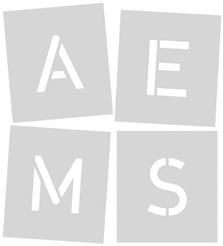 Signierschablone 150 mm Symbolgröße, Großbuchstaben A - Z, Sonderzeichen Ä, ?, !, &, gesamt 30 Schablonen