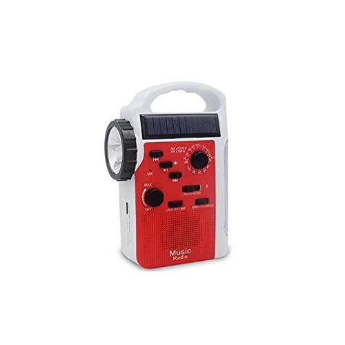 WGLL Radio de energía Solar, Radio de Emergencia de manivela con Linterna y Cargador de teléfono Celular de 2300mAh, portátil Am/FM NOAA Radio Tiempo, Suministros de Emergencias al Aire Libre domést