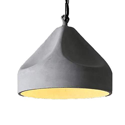 Industrial Mini Cemento Pendant Lámpara,9 Pulgadas Gris Sombra Iluminación Colgante Vintage Cocina Isla Lámpara De Araña,Lámpara De Techo Para Restaurante Granja-Gris. 24x22cm(9x9inch)