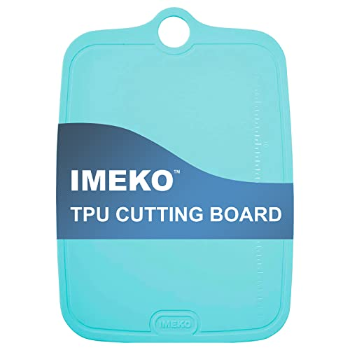 IMEKO TPU Cutting Board BPA FREE Knife Friendly Flexible Dishwasher Friendly Space Saving Ergonomic Design Chopping Mat