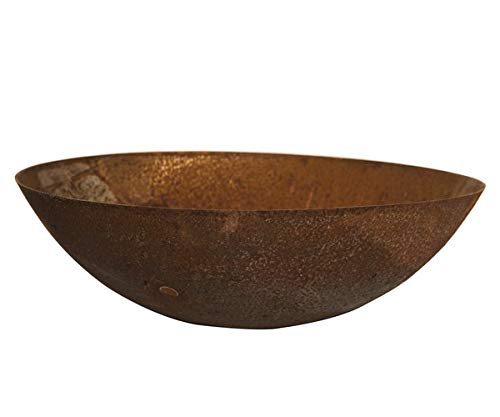 Round Wood Dish Wood 100cm Steel Bowl Burners-Rust Finish Fire Pits Garden Heating Heater Feature Furniture Patio, 100x100x34 cm