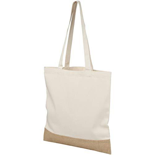 Cotton Jute Tote Bag - Natural