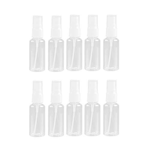 N\A Flor de la Planta y Jardín Transparente Puede 10PCS 100 ml Vacío Bomba de plástico Recargable Botellas del Aerosol de Viajes Can de riego Regadera (Color : Clear)
