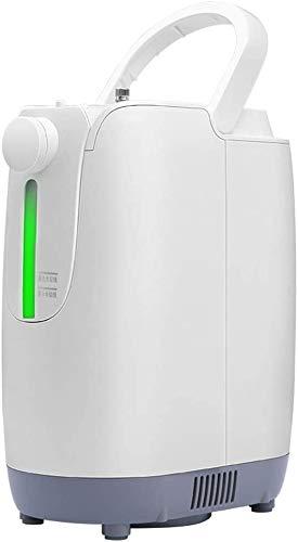 KOSGK Máquina oxígeno Profesional, concentrador oxígeno Máquina oxígeno, Pantalla Grande Alta definición para el hogar con atomizador Doble Absorbente oxígeno portátil 1-7L Ajustable, 26x13.7x29.1cm