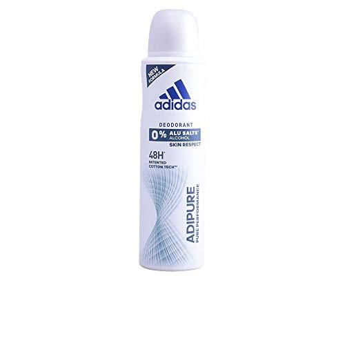 adidas adipure Deo Bodyspray für Damen – Deodorant ohne Aluminium & Alkohol für 48h effektiven Deo-Schutz – pH-hautfreundlich – 1 x 150 ml