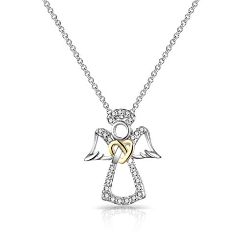 Philip Jones Guardian Angel Necklace Created with Austrian Crystals