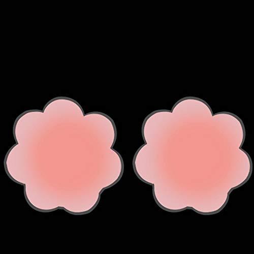 Yoyoly 10 pares de pasta de leche antipolvo Pezón pegado Pegatinas en el pecho Vestido de novia femenino con sección delgada Sujetadores de silicona de pechos grandes Pegatinas de areola invisible for