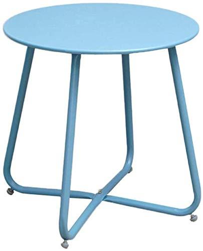 WYQ - Mesa de sala de estar, dormitorio, hierro de color multifunción, mesita de noche, balcón, sofá, mesa auxiliar – 45 x 45 cm (color: azul)