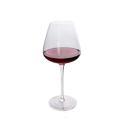 Copas De Vino Originalidad transparente de vidrio de vino taza de estilo clásico de la personalidad de lujo Bar Restaurante Bodega de los mejores amigos regalos copa vino