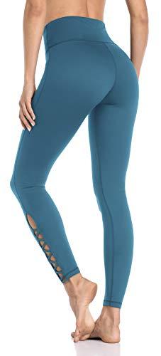 Anwell Yoga Leggings Damen Yoga Pants Yoga Leggings High Waist Yogahose Langgröße Yogahose Yogahose Handytasche Stretch Thermo Rot S