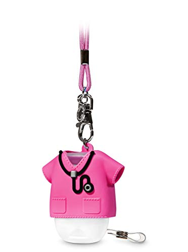 Bath and Body Works Pink Medical Scrub With Clip and Necklace Pocketbac Holder