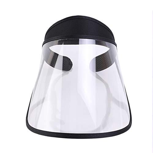Anti Beschlag Gesichtsschutz Face Shield Visier Schutzvisier Augenschutz Gesichtsvisier Gesichtsschutzschild Schutzschild (Schwarz, Einheitsgröße)