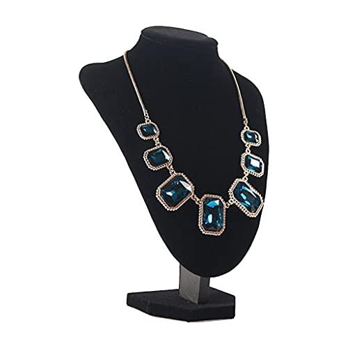 Organizador de joyas en 3D con cadena de almacenamiento de joyería de franela