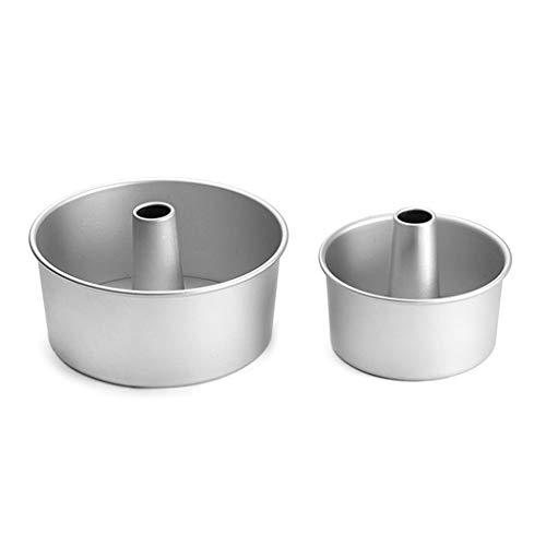 dedepeng Backform Silikon 4inch 6inch Aluminiumlegierung Runde Chiffon- Kuchen Pan Abnehmbaren Boden Hohl Kamin Kuchenform DIY Backen-Kuchen-Werkzeuge