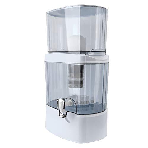 Wakects Sistema de filtración de agua de 5 etapas, 24 litros, purificador de agua con grifo purificador, máquina del sistema de filtración del filtro purificador del agua