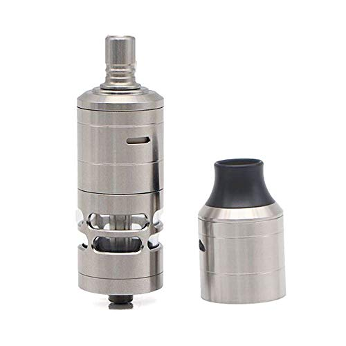 Preisvergleich Produktbild ShenRay Korina V6 MTL 23mm RTA Rebuildable Tank Atomizer W / DL Replacement Cover Kit 6ml / with logo - Silver