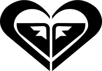 Roxy Heart Red SK8/Surf/Snow/Water/Bike/Brands Automotive Decal/Bumper Sticker