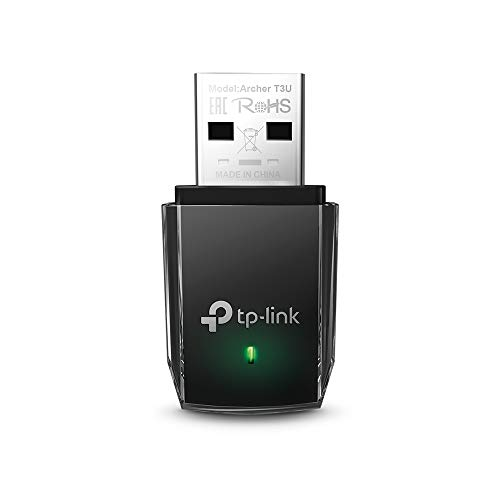 TP-LINK AC1300 MU-MIMO USB 3.0 Wi-Fi Adapter, Super Fast Mini Dual Band 5 GHz Wireless Dongle for...