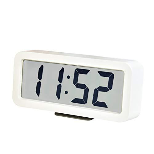 Despertador Reloj Despertador para Dormitorio Set FÁCIL Digital Reloj DE ALARMAJE Digital LED Reloj Despertador Sentir Simply Design (Color : White)