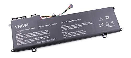 vhbw Batería Recargable reemplaza Samsung AA-PLVN8NP para Notebook (6000 mAh, 15.1 V, polímero de Litio)