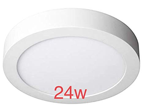 Pack 2x Plafon LED Redondo superficie 24w. Color Blanco Frío (6500K). 2000 lumenes. Diámetro 300mm. A++