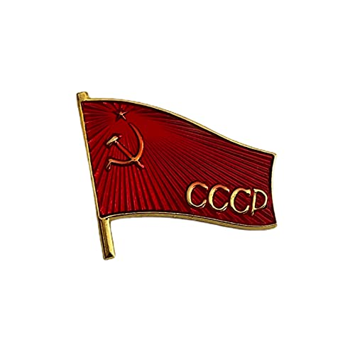 Ganwear Sowjetische UDSSR-rote Armee-Banner der Sieges-Flagge-Pin-Abzeichen