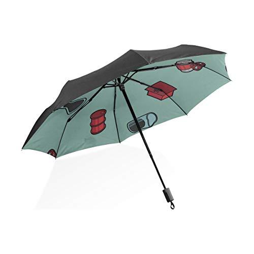 Herren Regenschirm Winddicht Kompakte Nette Kreative Cartoon Feuerlöscher Tragbare Kompakte Taschenschirm Anti Uv Schutz Winddicht Outdoor Reise Frauen Golf Regenschirme Für Regen Winddicht