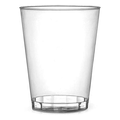 Savvi Serve Vasos de Fiesta Elegantes de plástico Duro, Transparentes, 340 ML, 40 Unidades