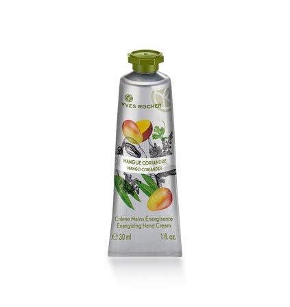 Yves Rocher LES PLAISIRS NATURE Handcreme Mango-Koriander, feuchtigkeitsspendende Hand-Pflege, 1 x Tube 30 ml
